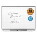 Quartet QRTTEM547G Prestige 2 Connects Magnetic Total Erase Whiteboard, 72 X 48, Graphite Frame