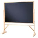 Quartet QRTWTR406810 Reversible Chalkboard, 72 X 48, Black Surface, Oak Frame