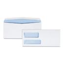 Quality Park QUA24524 Double Window Security Tinted Invoice & Check Envelope, #9, White, 500/box