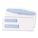 Quality Park QUA24532B Double Window Security Tinted Check Envelope, #8 5/8, White, 1000/box