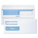 Quality Park QUA24559 Redi-Seal Envelope, #10, Double Window, Contemporary, White, 500/box