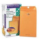 Quality Park QUA37855 Clasp Envelope, 6 X 9, 28lb, Brown Kraft, 100/box