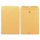 Quality Park QUA37890 Clasp Envelope, 9 X 12, 28lb, Brown Kraft, 100/box