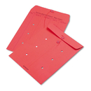 Quality Park QUA63574 Colored Paper String & Button Interoffice Envelope, 10 X 13, Red, 100/box