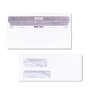 Quality Park QUA67529 Reveal-N-Seal Double Window Invoice Envelope, Self-Adhesive, White, 500/box