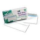 Quality Park QUA69112 Redi-Strip Security Tinted Envelope, Contemporary, #10, White, 30/box