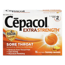 Cepacol RAC73016 Extra Strength Lozenges, Honey Lemon, 16 Lozenges