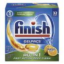FINISH 51700-81053 Dish Detergent Gelpacs, Orange Scent, Box of 32 Gelpacs, 8 Boxes/Carton