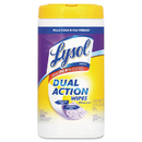 Lysol RAC81700CT Dual Action Disinfecting Wipes, Citrus, 7 X 8, 75/canister, 6/carton