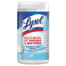 Lysol 19200-89346 Disinfecting Wipes, 7 x 8, Crisp Linen, 80 Wipes/Canister