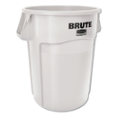 Rubbermaid 1779740 Vented Round Brute Container, 44 Gal, White, Resin, 4/Carton