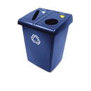 Rubbermaid RCP1792339 Glutton Recycling Station, Two-Stream, 46 Gal, Blue