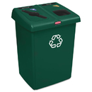 Rubbermaid 1792340 Glutton Recycling Station, Two-Stream, 46 gal, Green