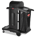 Rubbermaid 1861427 Executive High Security Janitorial Cleaning Cart, 23-1/10 x 39-3/5 x 27-1/2, Blk