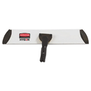 Rubbermaid 1863893 Executive Microfiber Single-Sided Flat Mop Frame, 3.5W, 18L, Black/Silver