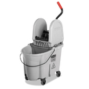 Rubbermaid 1863899 Executive WaveBrake Down-Press Mop Bucket, Gray, 35 Quart
