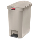 Rubbermaid 1883457 Slim Jim Resin Step-On Container, End Step Style, 8 gal, Beige