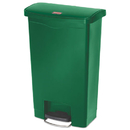Rubbermaid 1883584 Slim Jim Resin Step-On Container, Front Step Style, 13 gal, Green