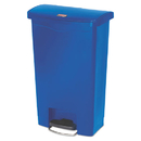Rubbermaid 1883593 Slim Jim Resin Step-On Container, Front Step Style, 13 gal, Blue
