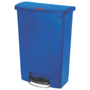 Rubbermaid 1883597 Slim Jim Resin Step-On Container, Front Step Style, 24 gal, Blue