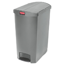Rubbermaid 1883607 Slim Jim Resin Step-On Container, End Step Style, 24 gal, Gray