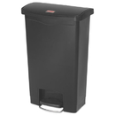 Rubbermaid 1883611 Slim Jim Resin Step-On Container, Front Step Style, 13 gal, Black