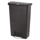 Rubbermaid 1883613 Slim Jim Resin Step-On Container, Front Step Style, 18 gal, Black
