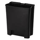 Rubbermaid 1900896 Step-On Rigid Liner For Stainless End Step, Plastic, 13 gal, Black