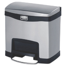 Rubbermaid 1901982 Slim Jim Stainless Steel Step-On Container, Front Step Style, 4 gal, Black