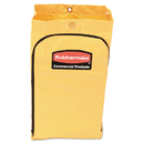 Rubbermaid 1966719 Zippered Vinyl Cleaning Cart Bag, 24gal, 17 1/4w x 10 1/2d x 30 1/2h, Yellow
