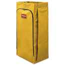 Rubbermaid 1966881 Vinyl Cleaning Cart Bag, 34 gal, Yellow, 17 1/2w x 10 1/2d x 33h