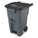 Rubbermaid 1971956 Brute Step-On Rollouts, Square, 50 gal, Gray