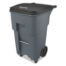 Rubbermaid 1971971 Brute Rollouts with Casters, Square, 65 gal, Gray
