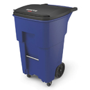 Rubbermaid 1971973 Brute Rollouts with Casters, Square, 65 gal, Blue