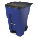 Rubbermaid 1971993 Brute Step-On Rollouts, Square, 95 gal, Blue