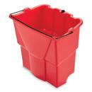 Rubbermaid 2064907 WaveBrake 2.0 Dirty Water Bucket, 4.2 gal, Plastic, Red