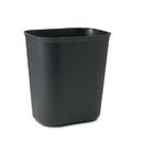 Rubbermaid RCP254100BK Fire-Resistant Wastebasket, Rectangular, Fiberglass, 3.5gal, Black