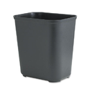 Rubbermaid RCP254300BK Fire-Resistant Wastebasket, Rectangular, Fiberglass, 7gal, Black