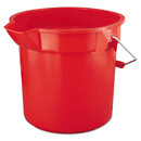 Rubbermaid RCP2614RED Brute Round Utility Pail, 14qt, Red