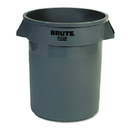 Rubbermaid RCP262000GRA Round Brute Container, Plastic, 20 Gal, Gray