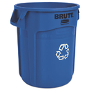 Rubbermaid FG262073BLUE Brute Recycling Container, Round, 20 gal, Blue