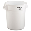 Rubbermaid RCP2620WHI Round Brute Container, Plastic, 20 Gal, White