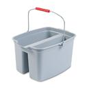 Rubbermaid RCP262888GY 19 Quart Double Utility Pail, 18 X 14 1/2 X 10, Gray Plastic