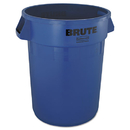 Rubbermaid RCP2632BLU Round Brute Container, Plastic, 32 Gal, Blue
