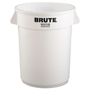 Rubbermaid RCP2632WHI Round Brute Container, Plastic, 32 Gal, White