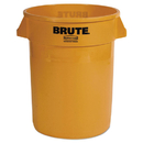 Rubbermaid FG263200YEL Round Brute Container, Plastic, 32 gal, Yellow