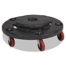 Rubbermaid RCP264043BLA Brute Quiet Dolly, 250lb Capacity, 18 1/4 Dia. X 6 5/8h, Black
