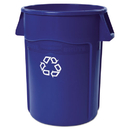Rubbermaid FG264307BLU Brute Recycling Container, Round, 44 gal, Blue