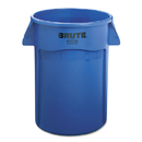 Rubbermaid RCP264360BE Brute Vented Trash Receptacle, Round, 44 Gal, Blue