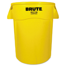 Rubbermaid FG264360YEL Brute Vented Trash Receptacle, Round, 44 gal, Yellow
